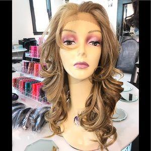 Accessories - Blonde Romance curl Freepart Blonde Lacefront Wig